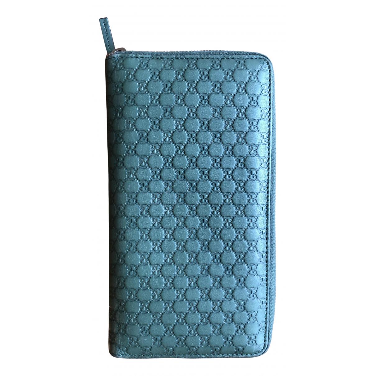 Gucci Continental Portemonnaie in  Gruen Leder