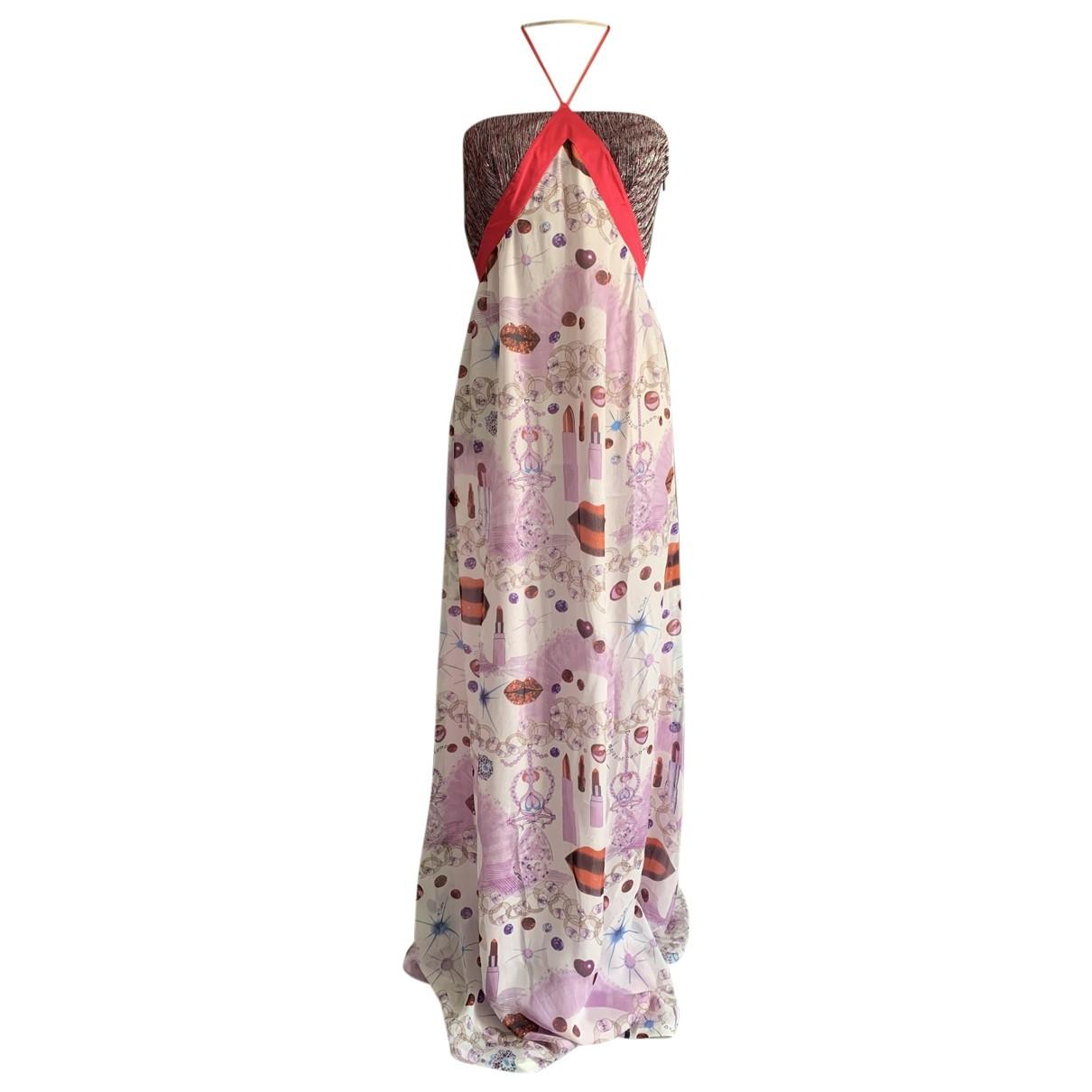 Non Signé / Unsigned Hippie Chic Multicolour Silk dress for Women 3 0-5