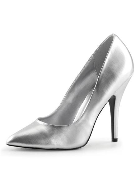 Milanoo Women's High heels Slip-On Pointed Toe Stiletto Heel Sequins Pumps