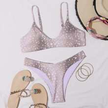 Bikini Badeanzug mit ueberallem Muster