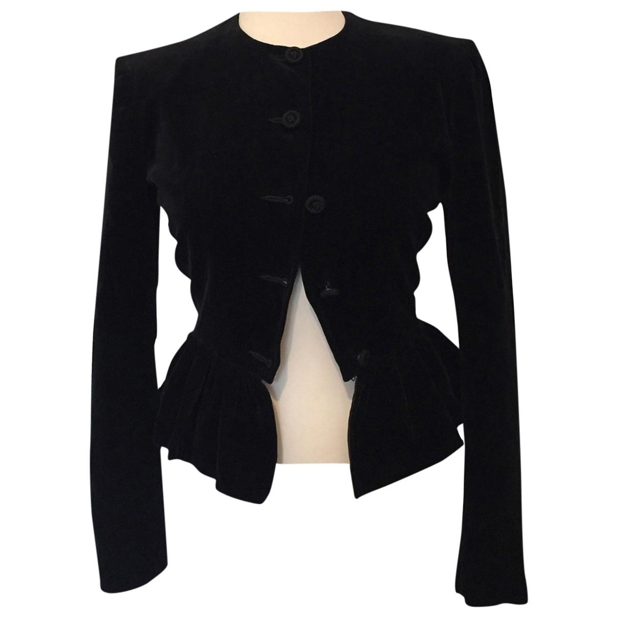 Max Mara \N Black Cotton jacket for Women S International