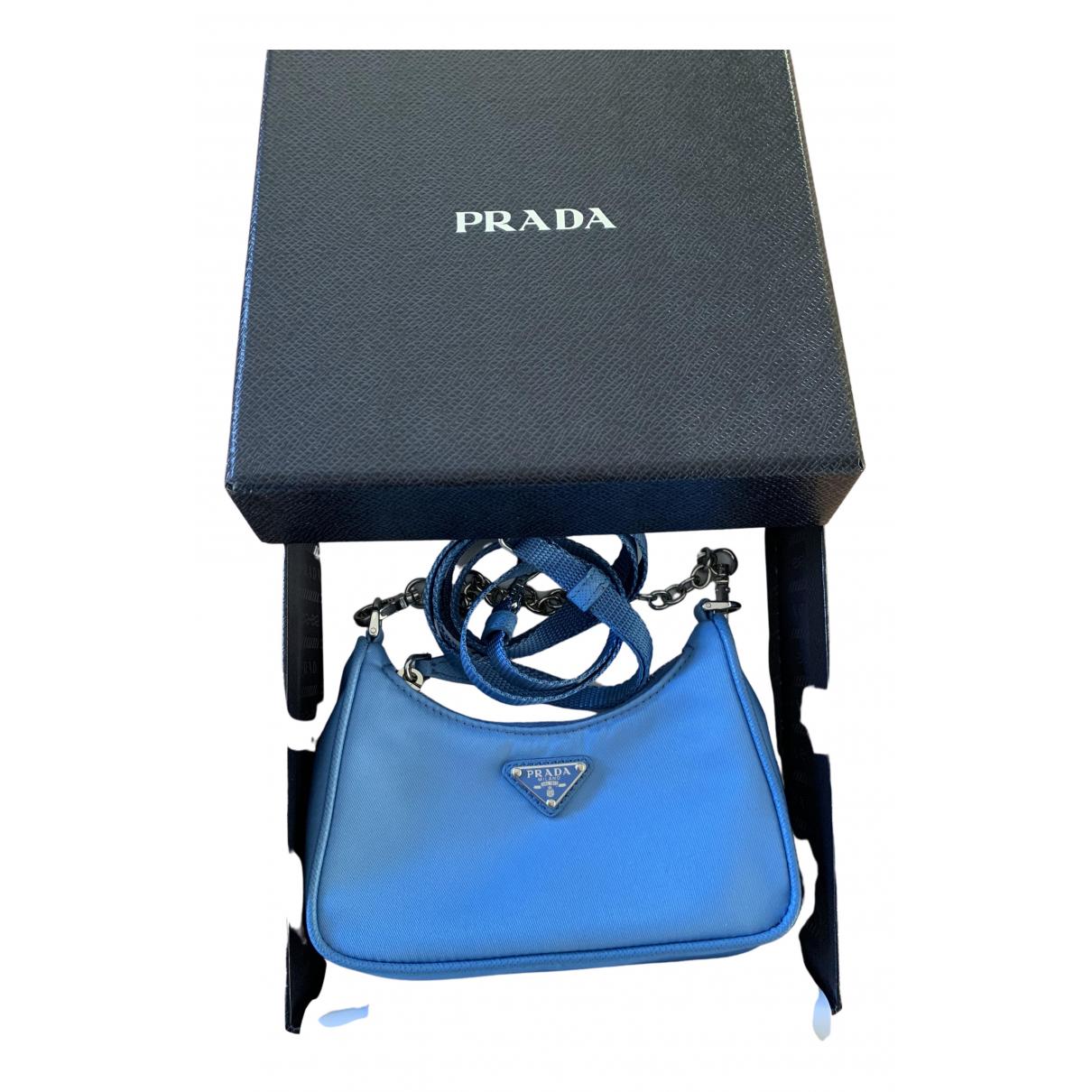 Prada Re-edition Blue Cloth handbag for Women N