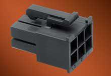 Molex Male Crimp Connector Housing, 4.2mm Pitch, 6 Way, 2 Row (10)