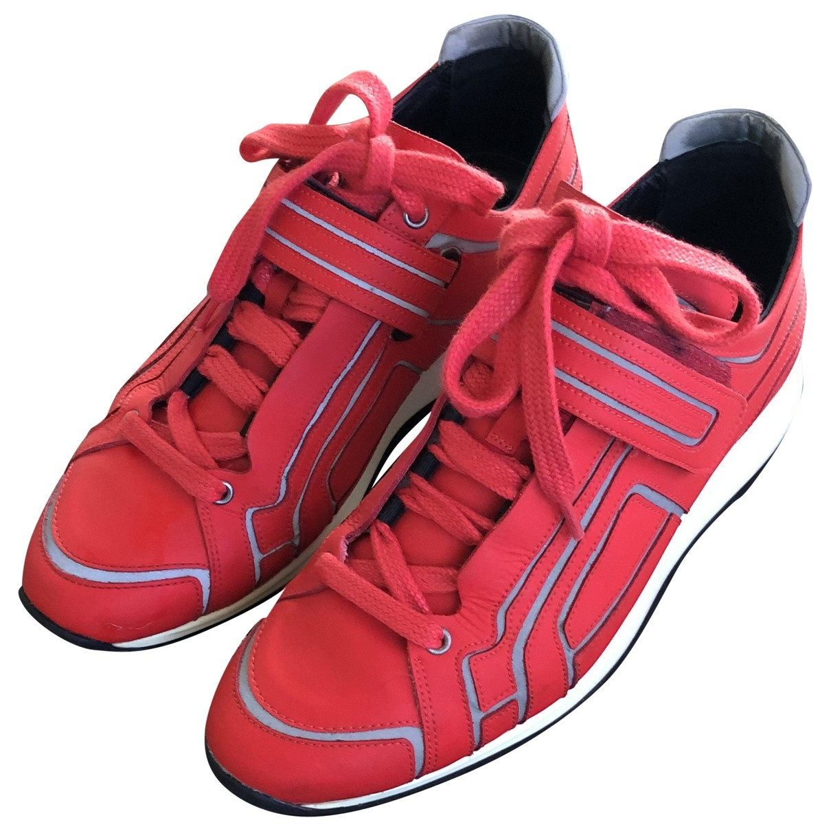 Pierre Hardy \N Sneakers in  Rot Leder
