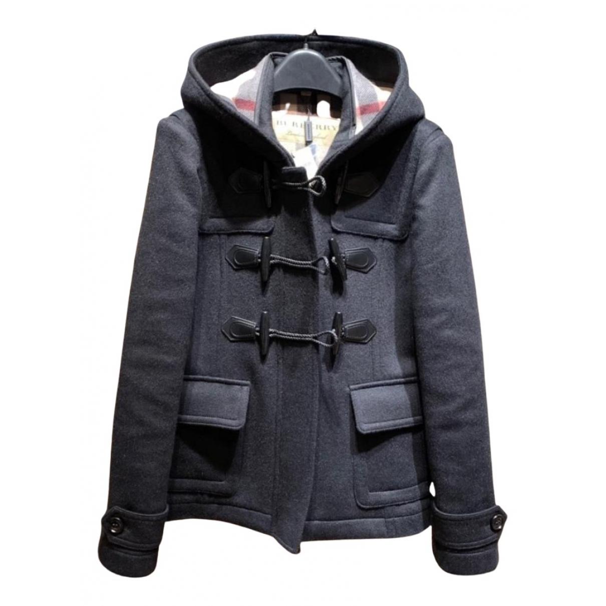 Burberry N Black Wool coat for Women L International