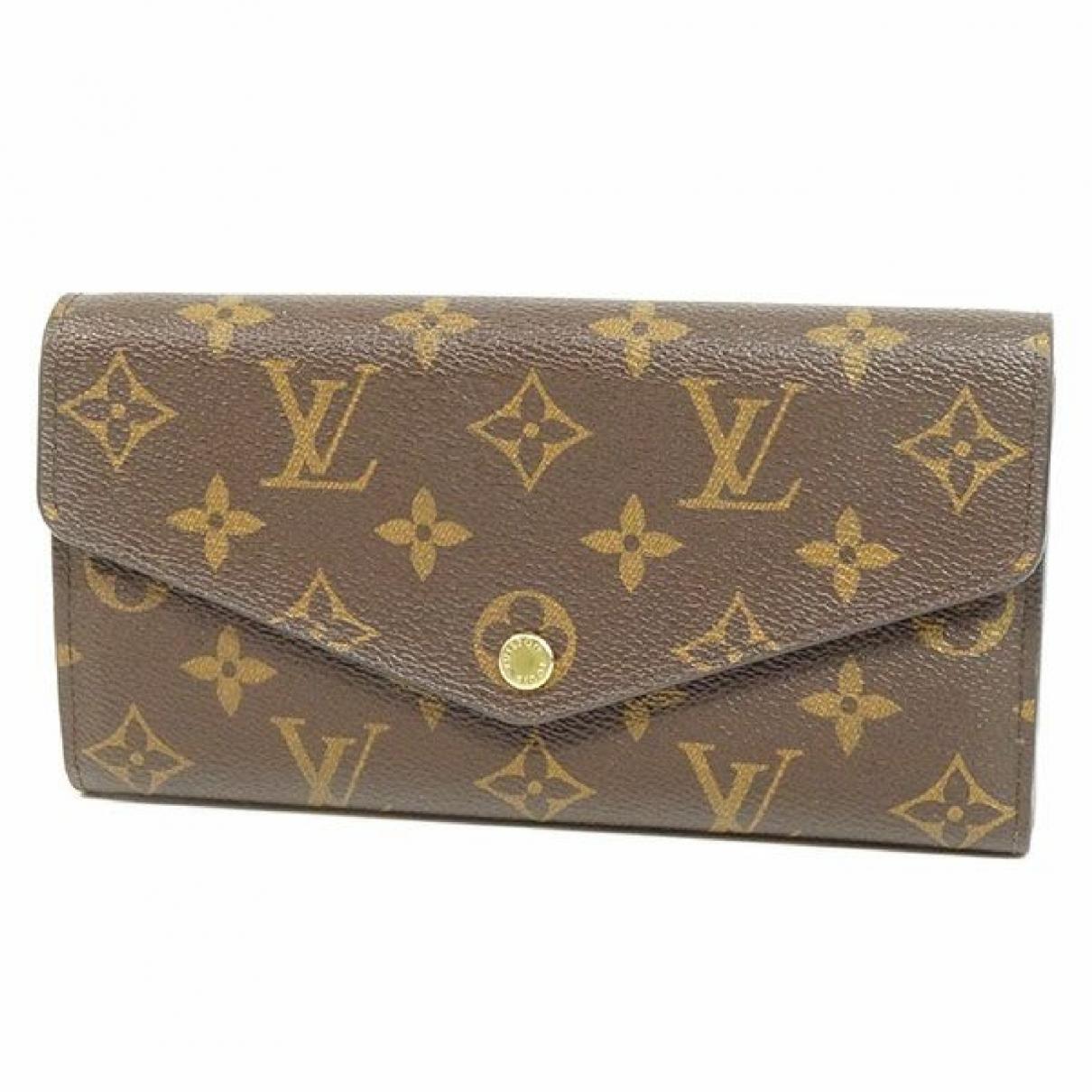 Louis Vuitton - Portefeuille   pour femme en toile - beige