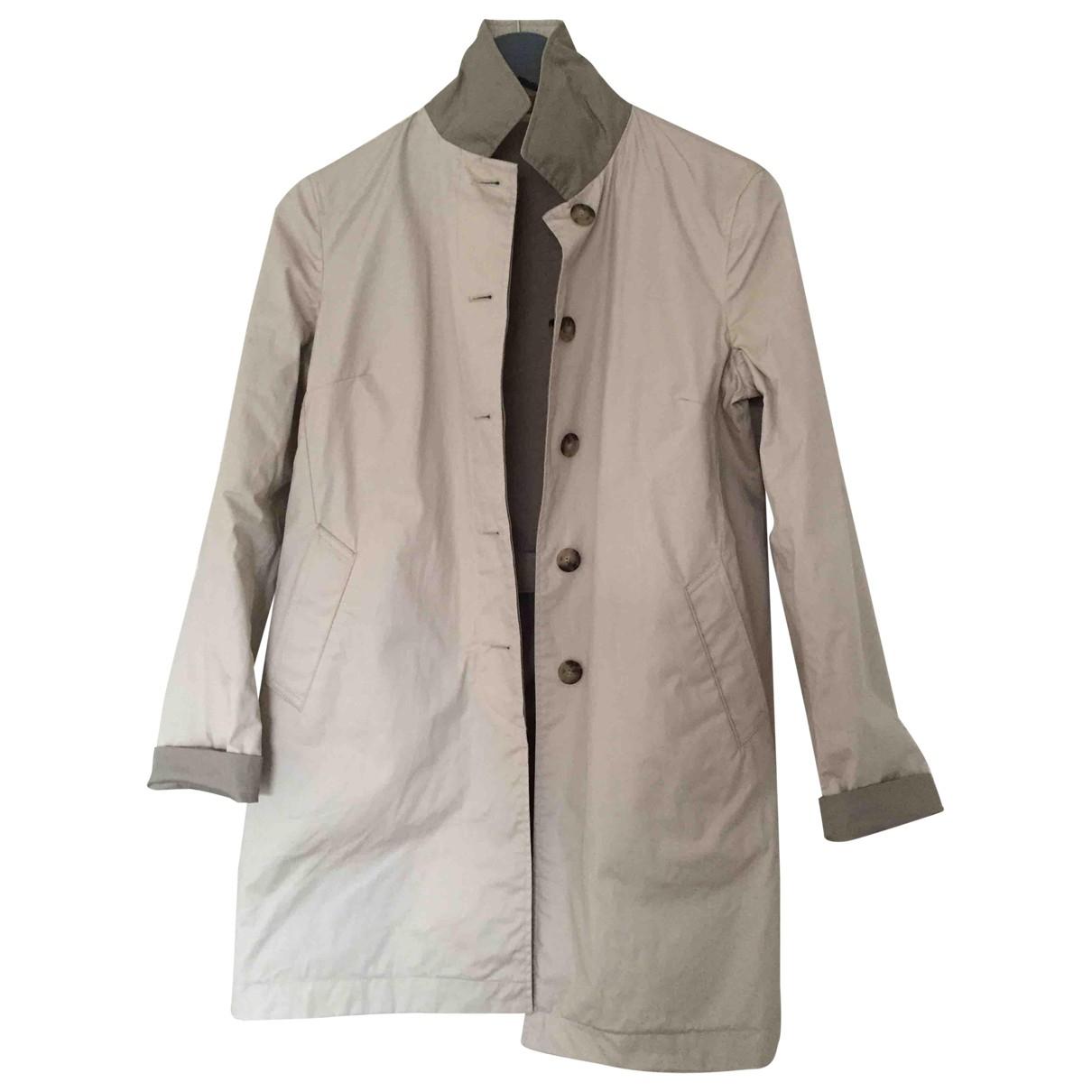 Massimo Dutti - Manteau   pour femme en coton - beige