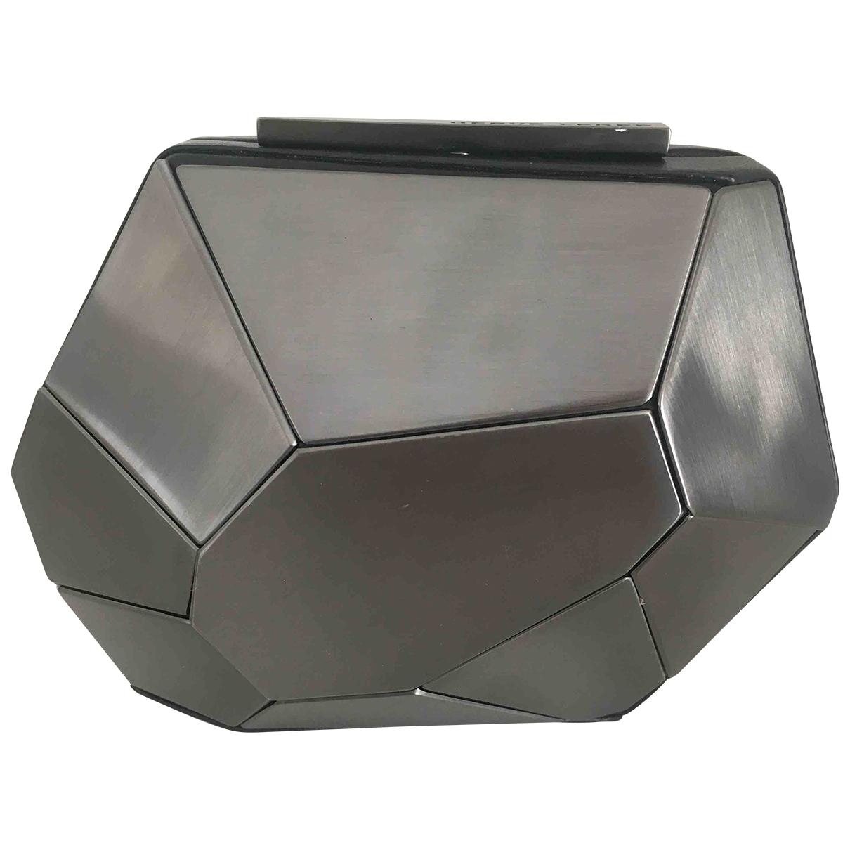 Herve Leger - Pochette   pour femme en metal - gris