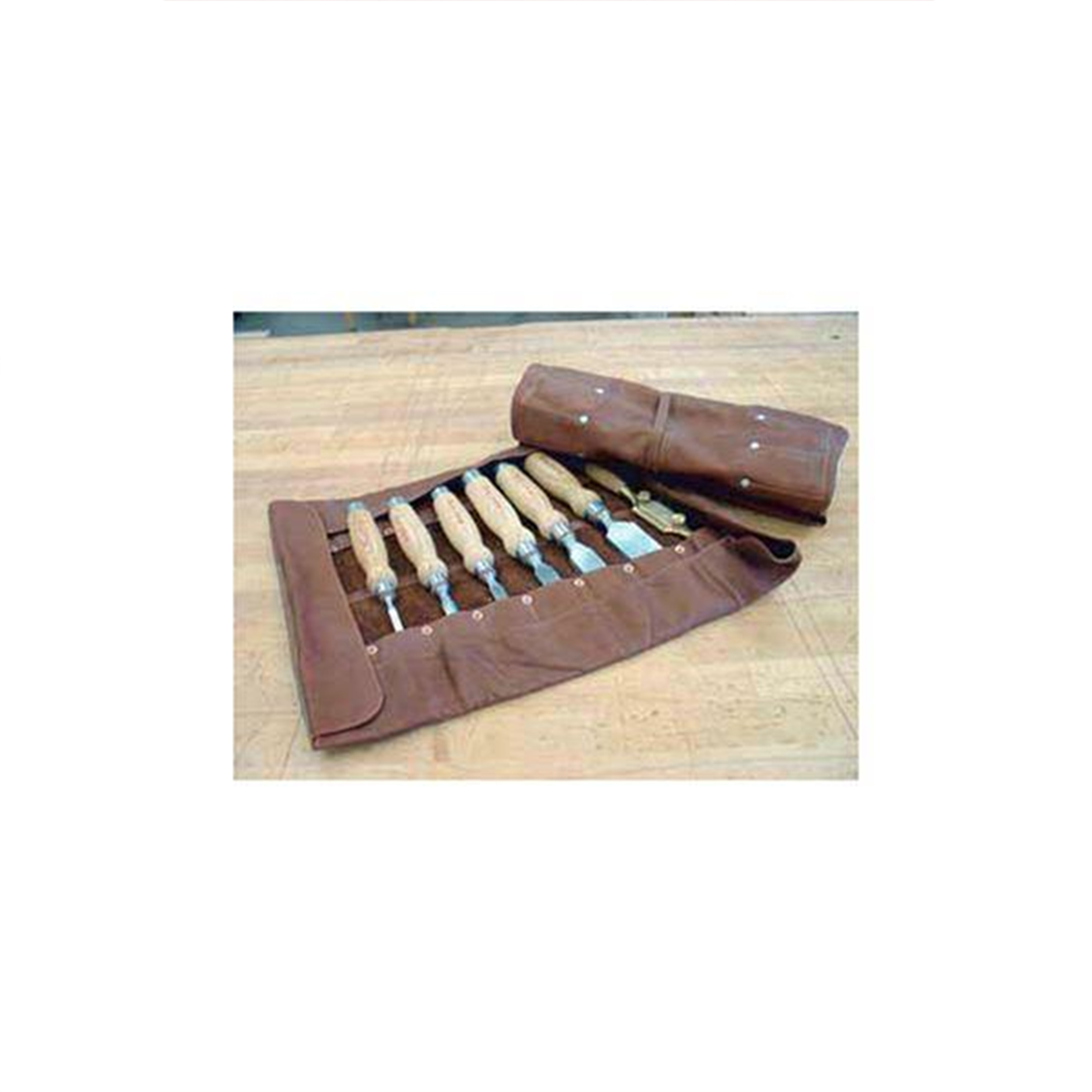16 Pouch Leather Chisel Roll