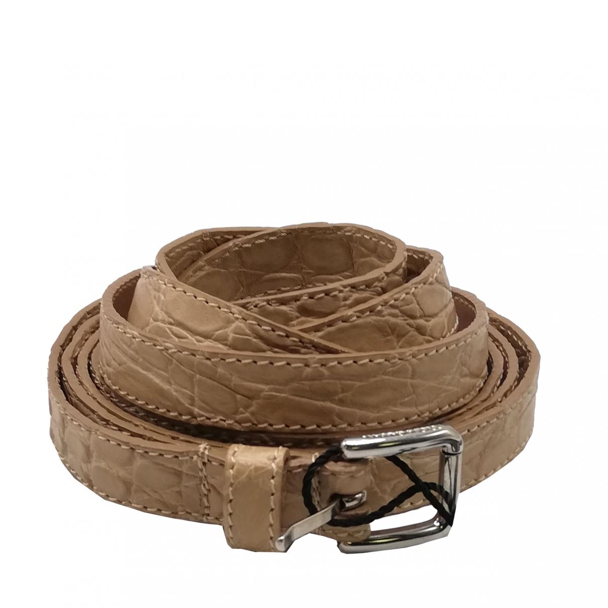 Cinturon de Cocodrilo Dolce & Gabbana