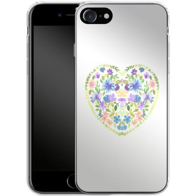 Apple iPhone 7 Silikon Handyhuelle - Love Folk Olive Green von Amy Sia