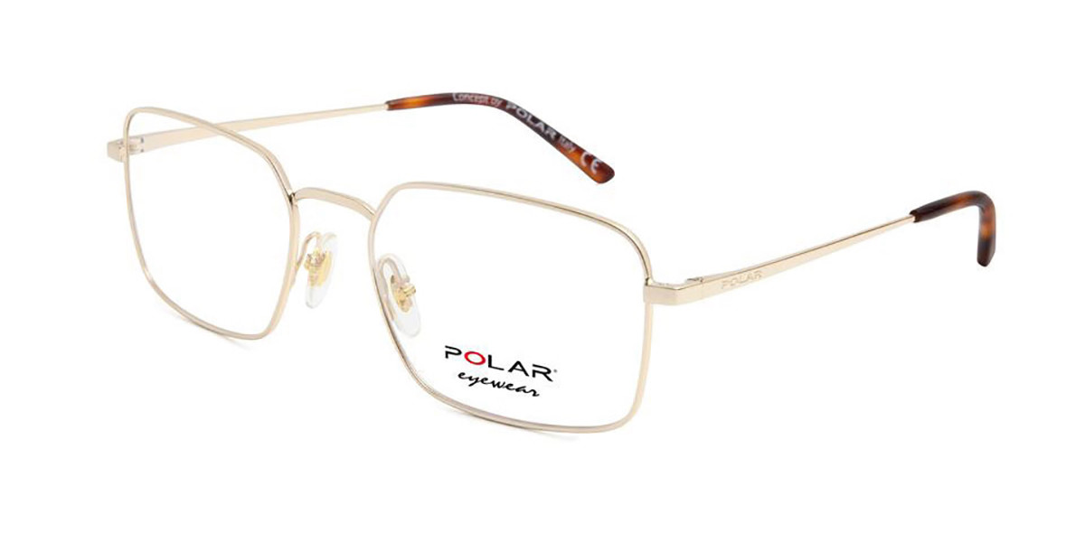 Polar PL 887 02 Mens Glasses Gold Size 53 - Free Lenses - HSA/FSA Insurance - Blue Light Block Available