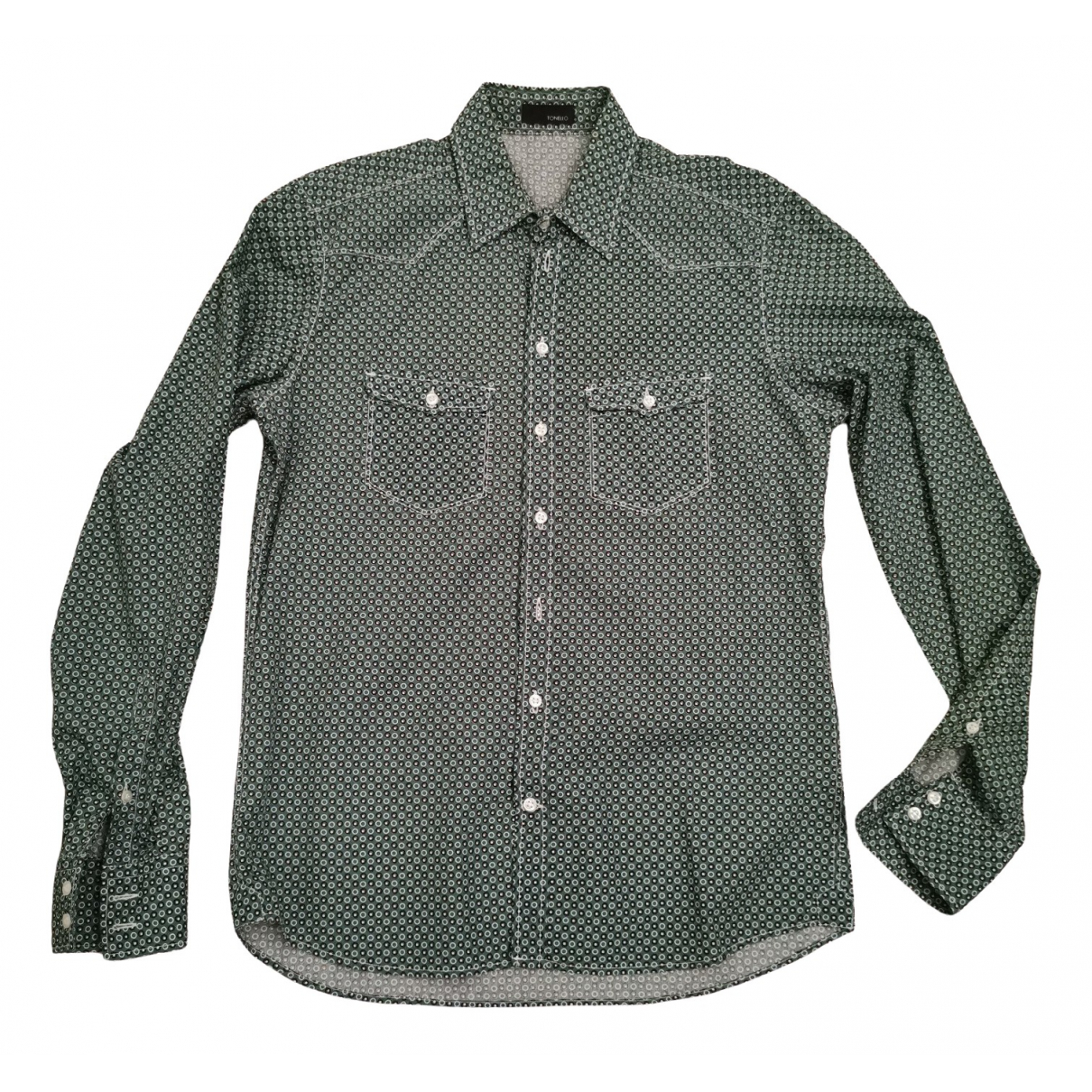 Tonello \N Green Cotton Shirts for Men M International