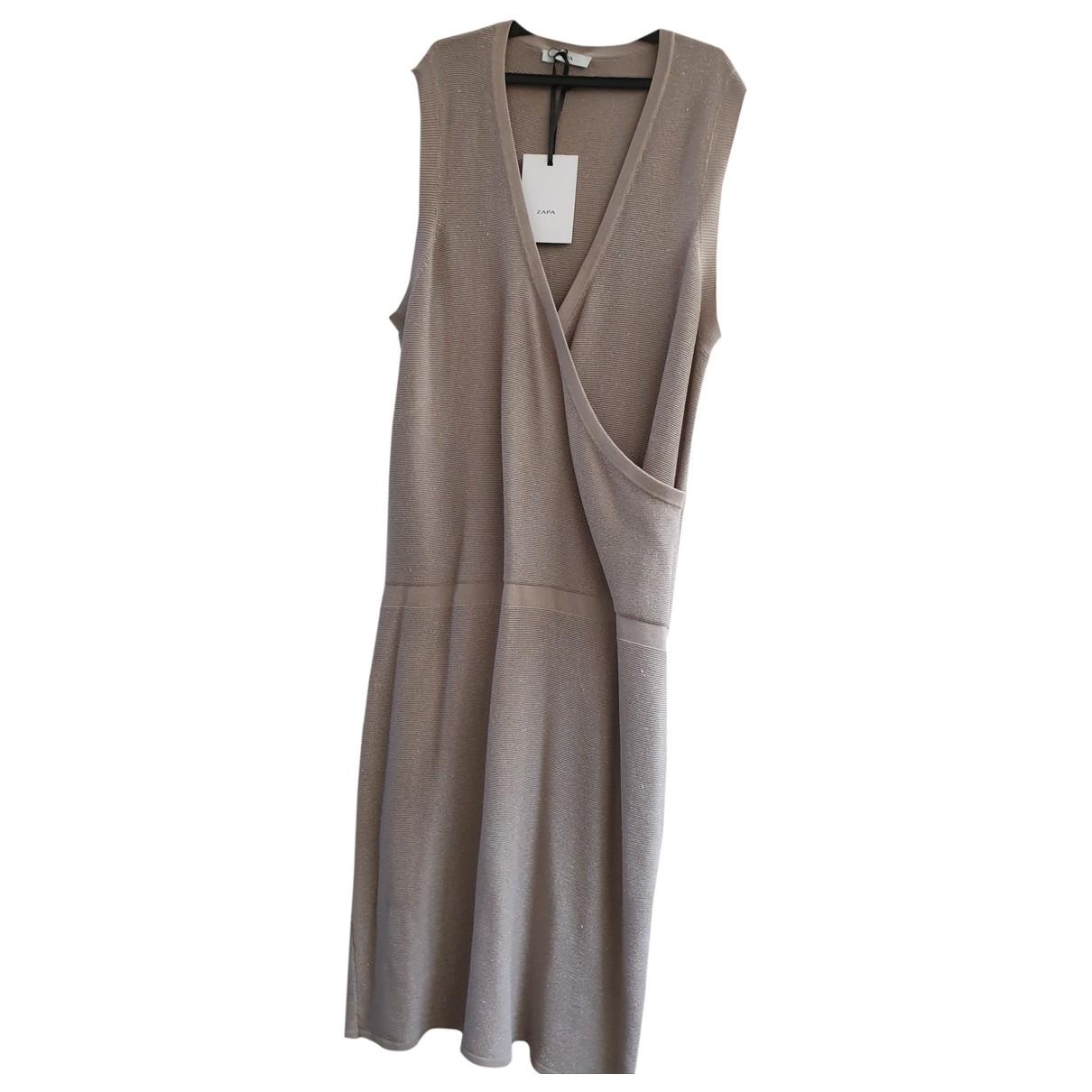 Zapa \N Kleid in Baumwolle - Elasthan