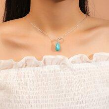 Halskette mit Tuerkis Anhaenger