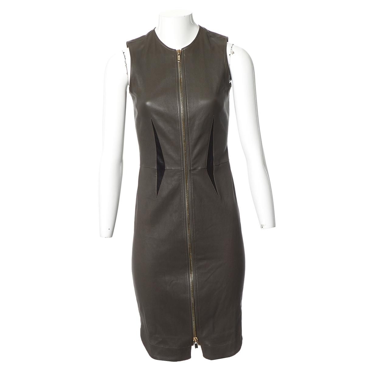 Givenchy \N Kleid in  Grau Leder