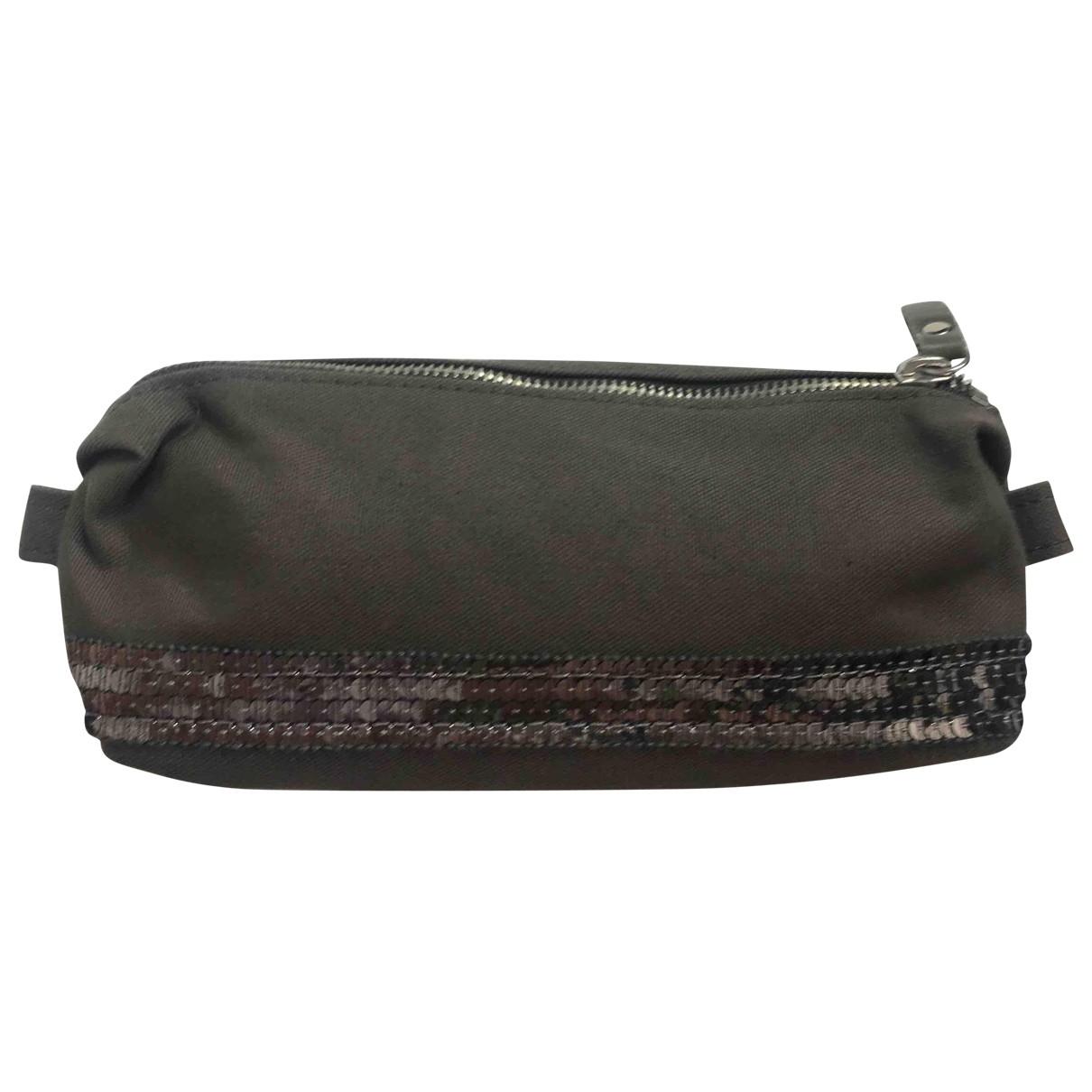 Vanessa Bruno Cabas Khaki Cloth Clutch bag for Women \N