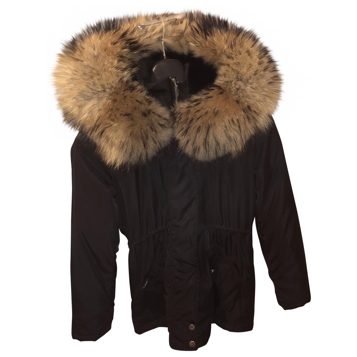Welovefurs - Veste   pour femme en coton - noir