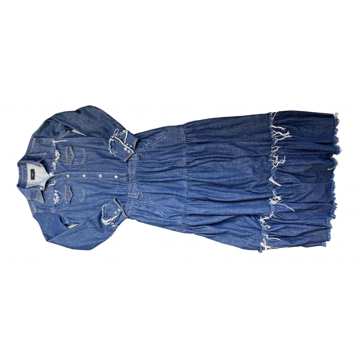 Alanui \N Kleid in  Blau Denim - Jeans