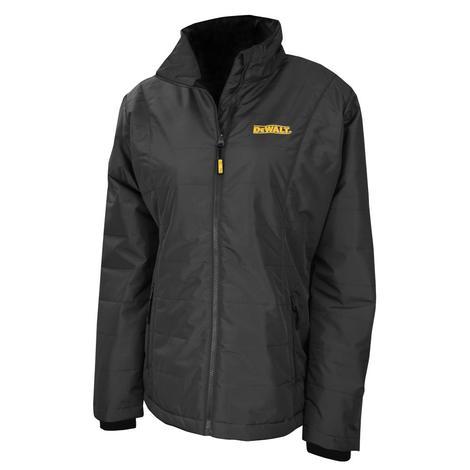 DeWalt Heated Jacket, Ladies, Black Quilted with 20V Battery Kit - M