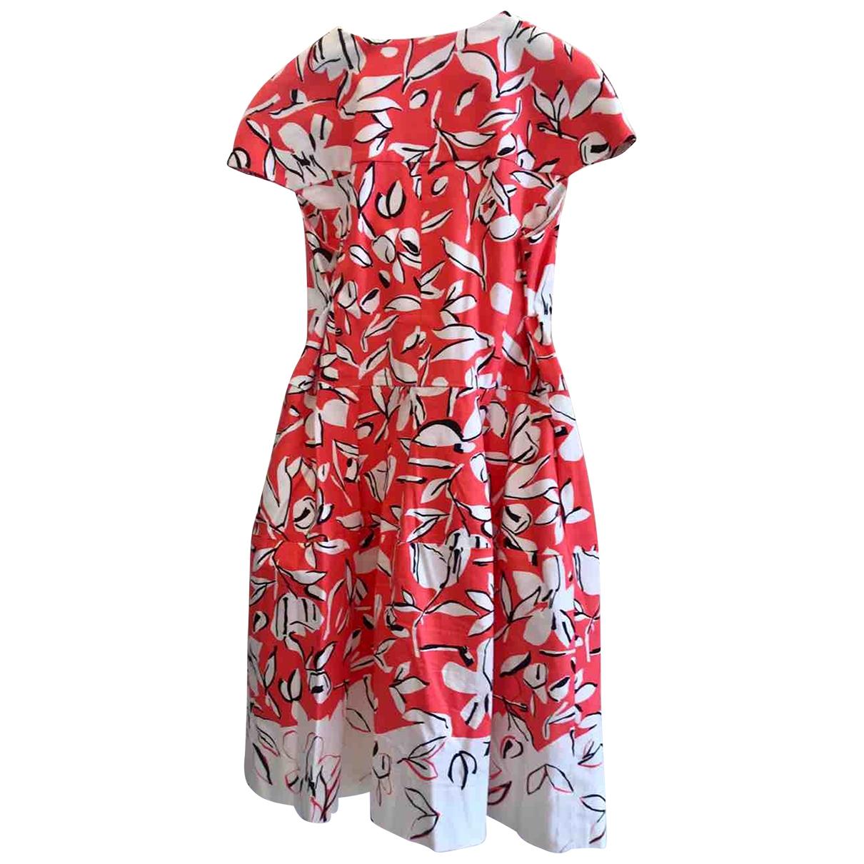 Oscar De La Renta \N Red Cotton - elasthane dress for Women 12 US