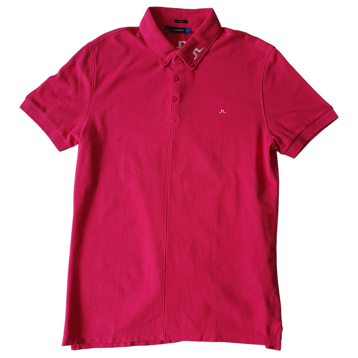 J.lindeberg - Polos   pour homme en coton - rose