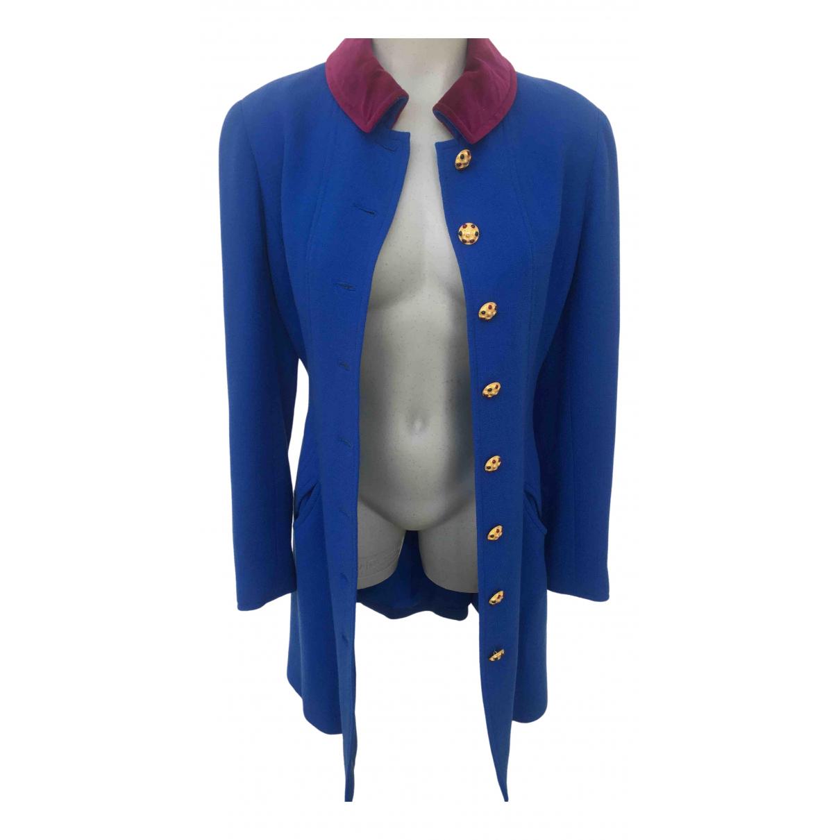 Chanel \N Maentel in  Blau Tweed