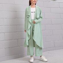 Outfit de dos piezas Boton Liso Sencillo