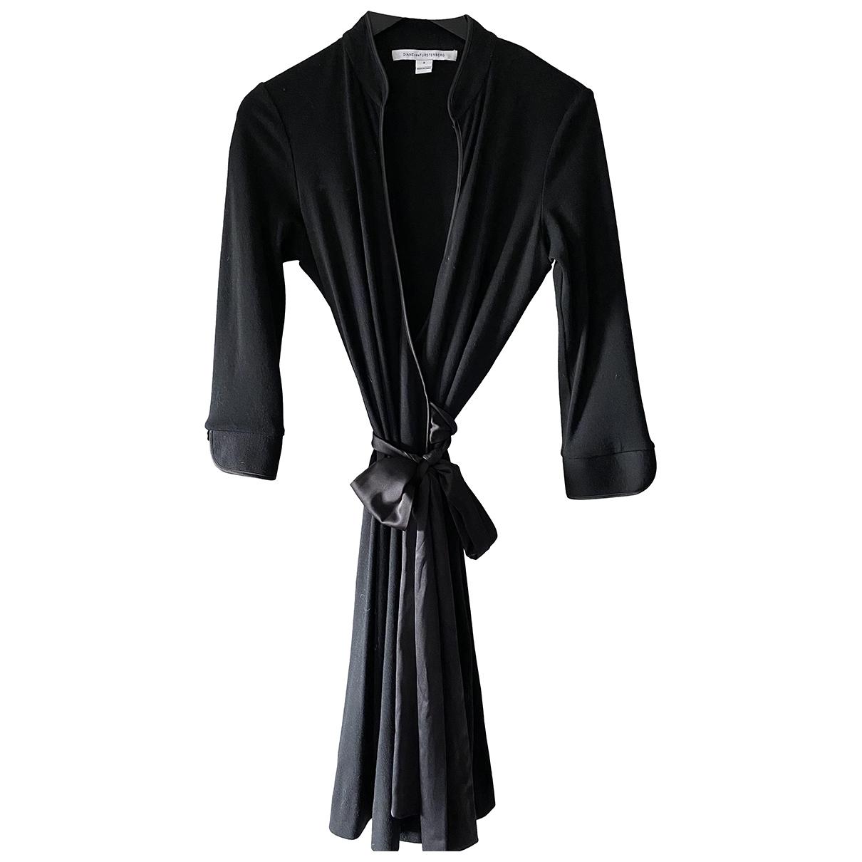 Diane Von Furstenberg \N Kleid in  Schwarz Wolle
