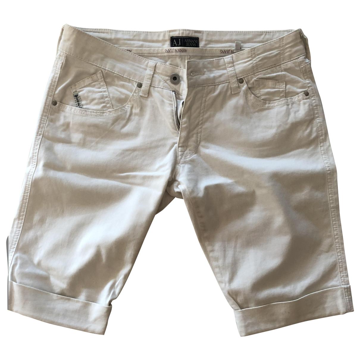 Armani Jeans \N Shorts in  Weiss Baumwolle