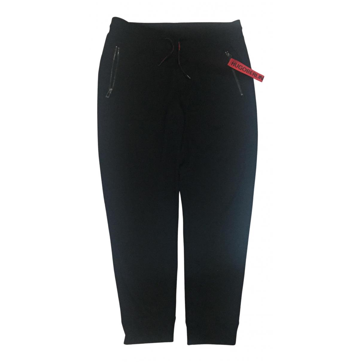 Hugo Boss - Pantalon   pour homme en coton - noir
