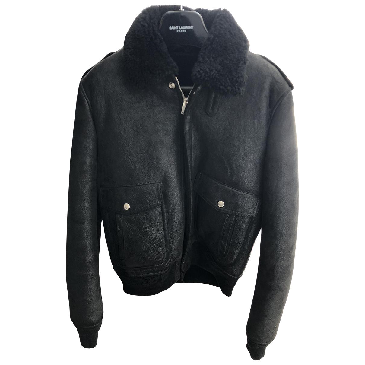 Saint Laurent N Black Shearling jacket  for Men 48 IT