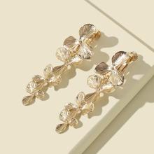 Metal Flower Design Earrings