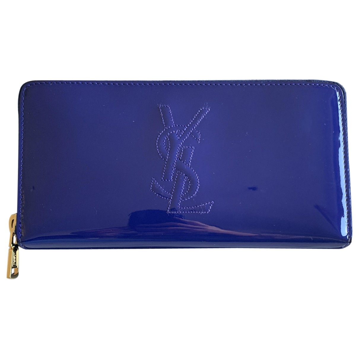 Saint Laurent \N Blue Patent leather wallet for Women \N