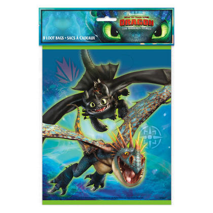 How to Train Your Dragon 3 Loot Bags, 8ct For Birthday Party