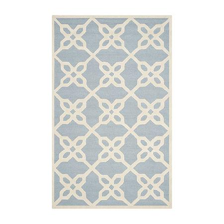 Safavieh Kentigern Geometric Hand Tufted Wool Rug, One Size , Blue