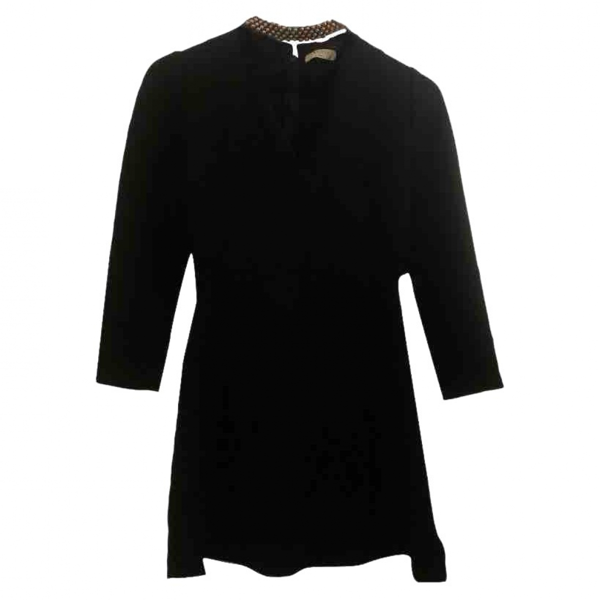 Sandro Fall Winter 2019 Black Cotton dress for Women 36 FR
