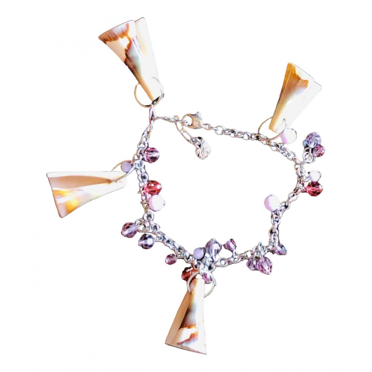 Swarovski \N Armband in  Rosa Metall