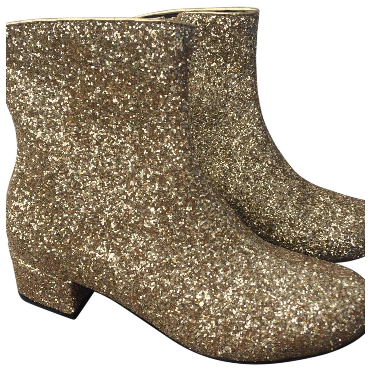 Autre Marque N Gold Ankle boots for Women 39 EU