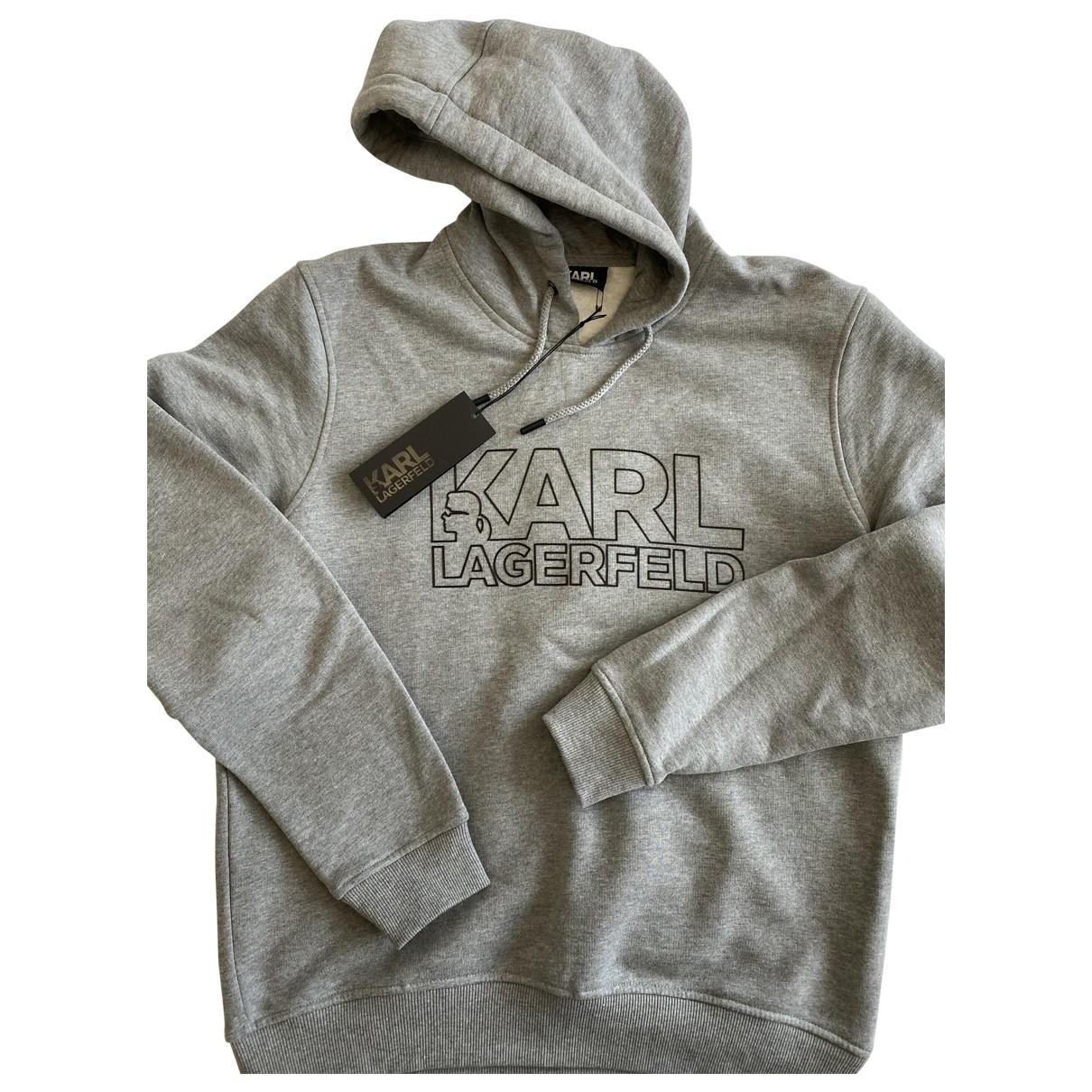 Karl Lagerfeld \N Grey Cotton Knitwear & Sweatshirts for Men L International