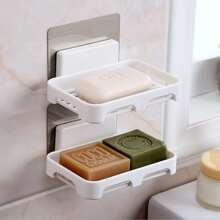 1pc Wall Mounted Soap Dish Holder