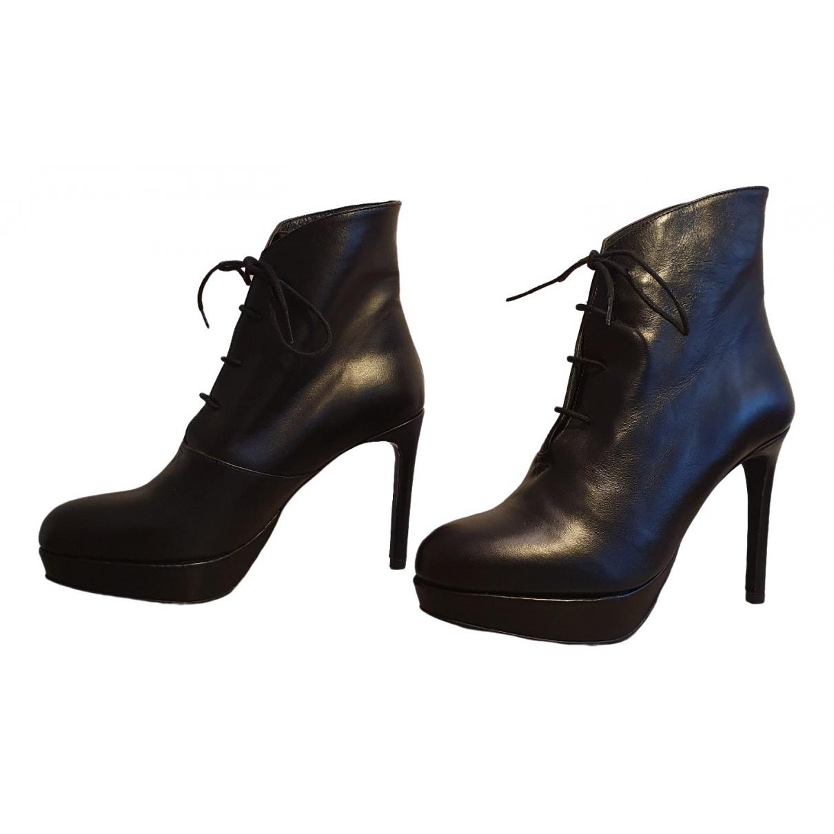 Rodebjer - Boots   pour femme en cuir - noir