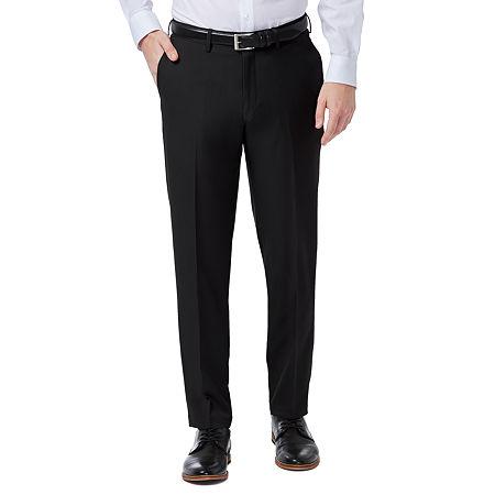 Haggar Premium Comfort Dress Pant Slim Fit Flat Front, 36 32, Black