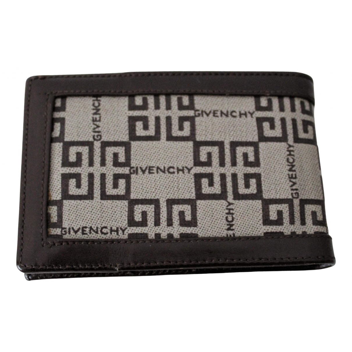 Givenchy \N Kleinlederwaren in  Beige / Kastanienbraun Leinen