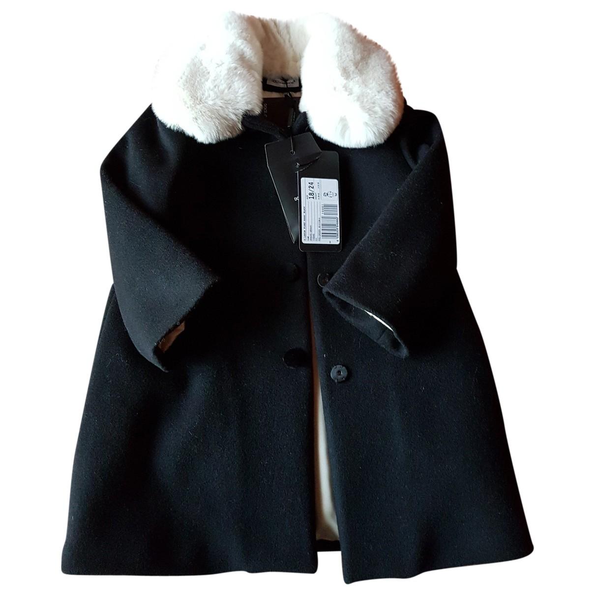 Dolce & Gabbana - Blousons.Manteaux   pour enfant en fourrure - noir