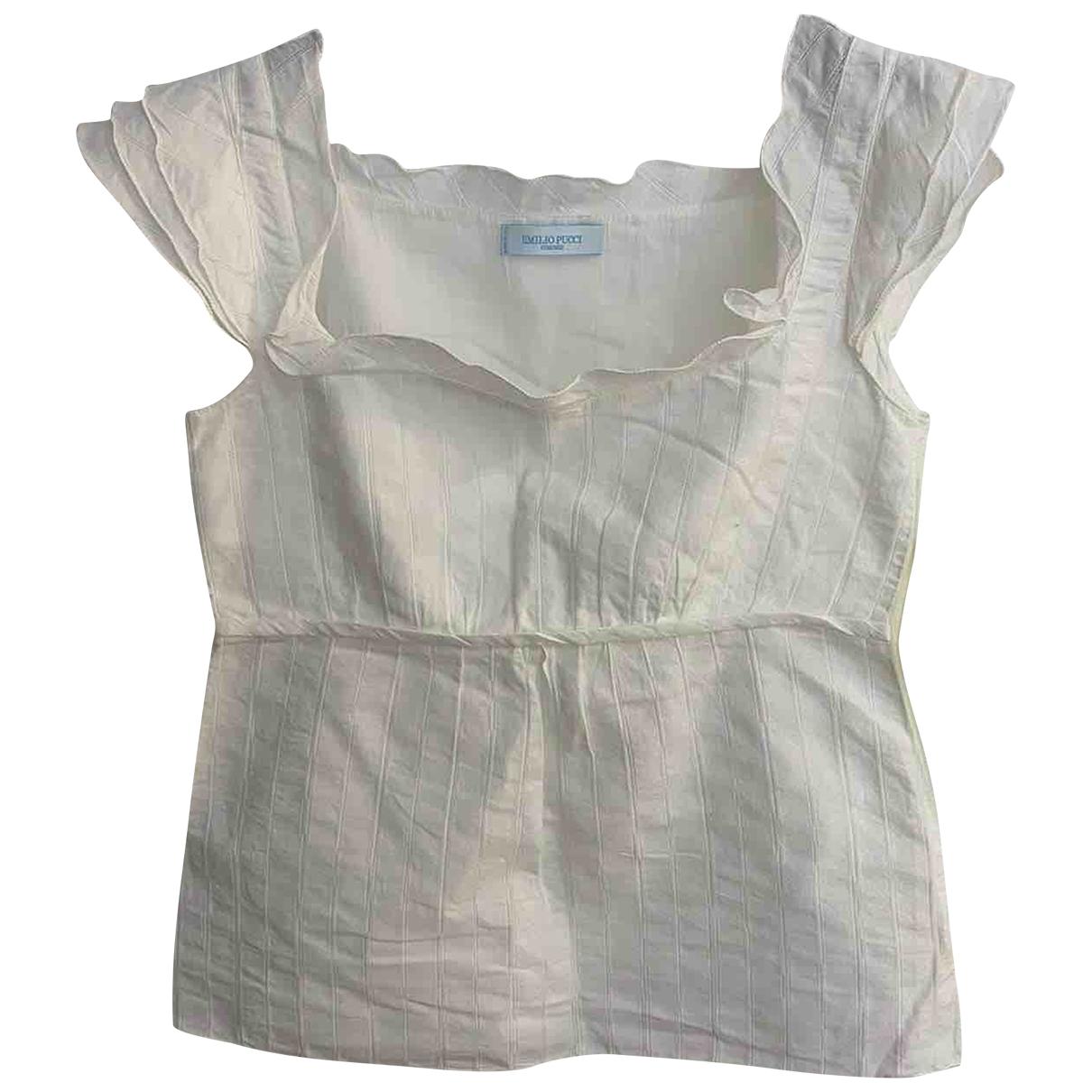 Emilio Pucci - Top   pour femme en coton - blanc