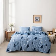 Tree Print Duvet Cover Without Filler