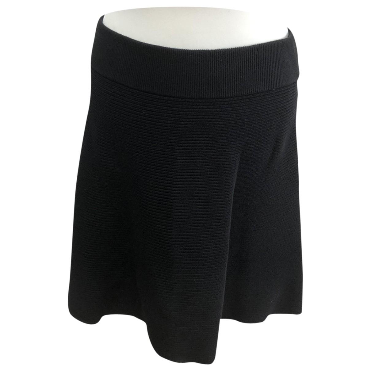 Claudie Pierlot - Jupe   pour femme en coton - elasthane - noir
