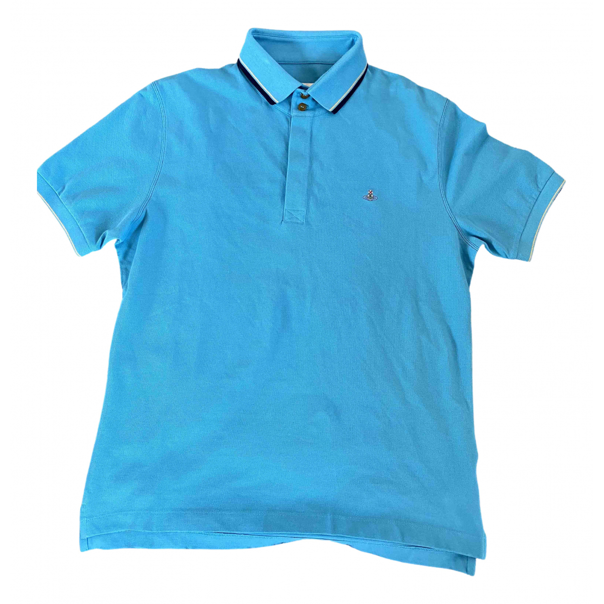Vivienne Westwood \N Turquoise Cotton Polo shirts for Men L International