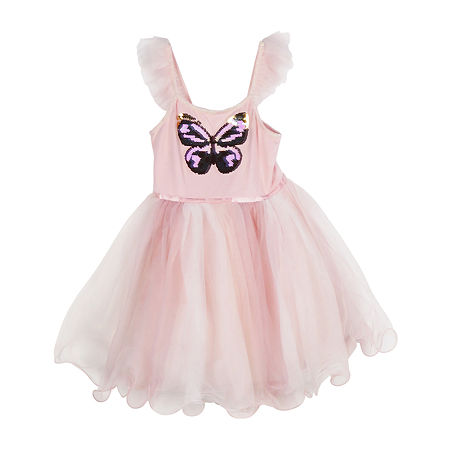 Pinky Little Girls Sleeveless Tutu Dress, 5 , Pink